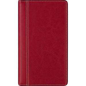 Brepols Interplan 736 pocket diary with Palermo luxe cover red