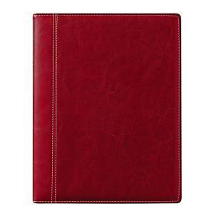 Brepols Timing 136 Palermo bureau-agenda met verwisselbare luxe omslag, rood