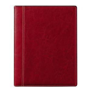 Agenda bureau Brepols Timing 136 Palermo, couverture luxe interchangeable, rouge