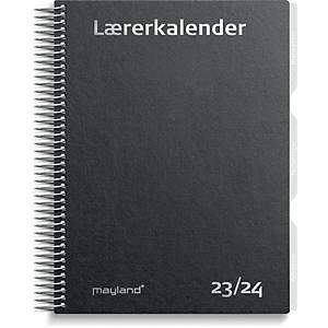 Lærerkalender Mayland 8130 00, uge, 2020/21, A5, sort