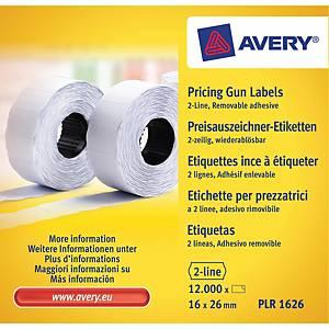 Avery hintaetikettirulla 26 x 16mm irtoava liima, 1 kpl=10 rullaa