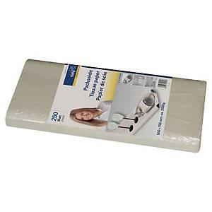 Papier de soie Tidypac - 50 x 75 cm - gris - paquet de 250 feuilles