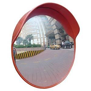Miroir de surveillance extérieur Viso - rond en polycarbonate - Ø 60 cm - rouge
