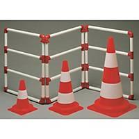 Cône de circulation, classe 2, 50 cm, orange/blanc, la pièce