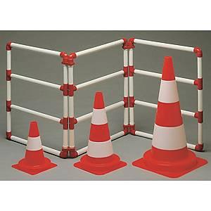 Verkeerskegel, klasse 2, 50 cm, oranje/wit, per stuk