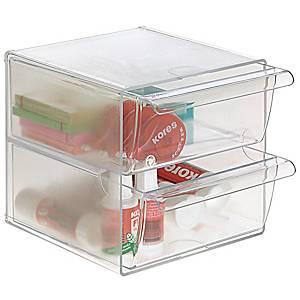 Minimódulo de organização Archivo 2000 - 2 gavetas - vidro