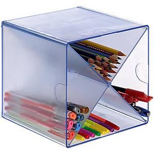 Minimódulo de organização em X Archivo 2000 - 4 compartimentos - vidro