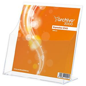 Expositor de sobremesa Archivo 2000 - A4 - 1 compartimento - transparente