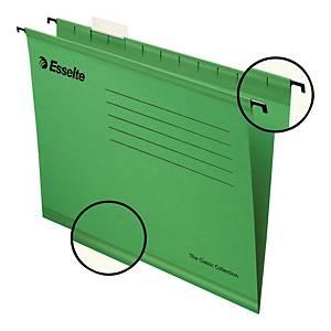 Teczka zawieszkowa Esselte Pendaflex zielona, opakowanie 25 sztuk
