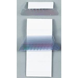 Esselte etiketinpidike riippukansioon 50mm kirkas, 1 kpl=25 pidikettä+etikettiä