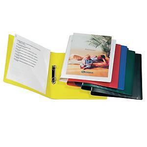 Minimappi A4 20mm 2-renkainen PP keltainen