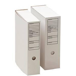 Arkistolaatikko A4 70mm etikettipainatus valkoinen