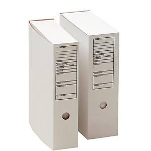 Arkistolaatikko A4 90mm etikettipainatus valkoinen