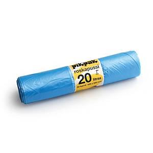 Roskapussi 20L sininen, 1 kpl=50 pussia