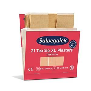 Salvequick 6470 kangaslaastari iso, 1 kpl=6x21 laastaria