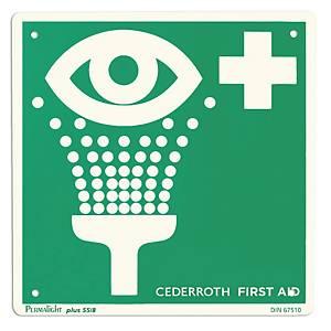 Cederroth 1750 opastekilpi silmänhuuhtelu