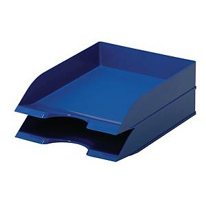 DURABLE BLUE 2 COMPARTIMENT LETTER TRAY FOR A4
