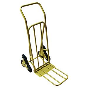 Diable Safetool Wonday 3300 pour escaliers, charge maximale 80 kg, jaune