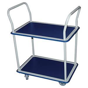 Chariot transport Safetool, plate-forme, tapis antidér., cap. ch. jus. 250 kg