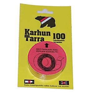 Karhun Tarra 20 x 25mm, 1 kpl=100 tarraa