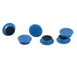 Magneetti 475206 21mm sininen, 1 kpl=20 magneettia