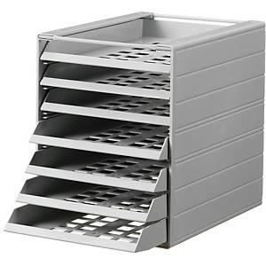 Durable vetolaatikosto A4 25x32,2x33cm 7-lokeroa harmaa