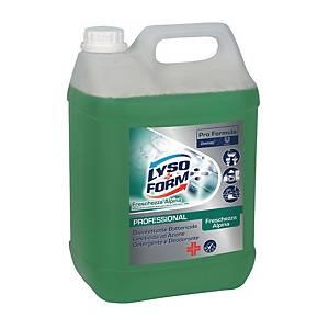 Detergente disinfettante Lysoform professionale freschezza alpina 5 L