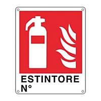 Cartello segnaletico antincendio   ESTINTORE N°