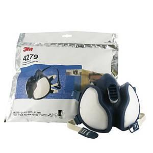 Meia máscara reutilizável 3M 4279 + filtros ABEK1P3 R D
