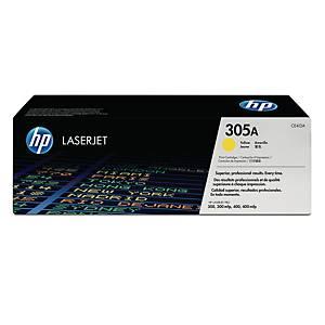 HP CE412A LaserJet Toner Cartridge (305A) - Yellow