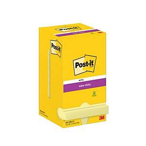 Foglietti Post-it® adesivo Super Sticky 12 blocchetti 76 x 76 mm giallo canary™