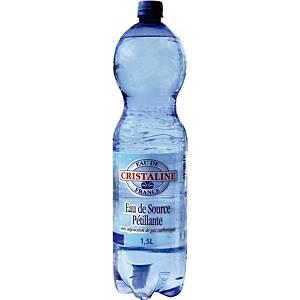 Eau pétillante Cristaline, le paquet de 6 bouteilles de 1,5 l