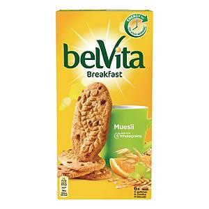 Ciastka BELVITA Musli z owocami, 24 ciasteczka pakowane po 4 sztuki, 300 g