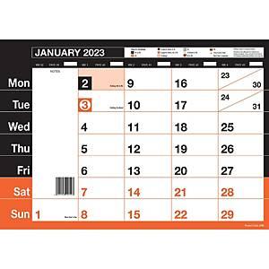 Red & Black Monthly Calendar