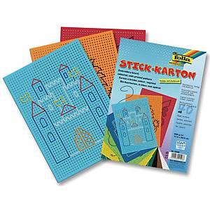 Carton perforé couleurs assorties - le paquet de 40