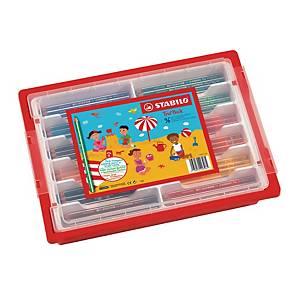 Crayons de couleur Stabilo® Trio, pack pour classe de 96 crayons