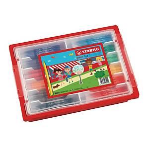 Stabilo® Power 280 viltstiften, assorti kleuren, klaspak van 144 stiften