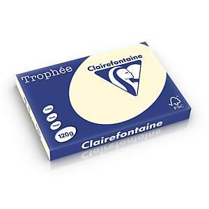 Clairefontaine Trophée 1302 papier couleur A3 120g ivoire - ram. de 250 flls