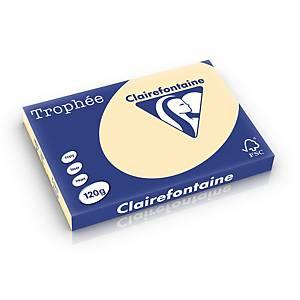 Clairefontaine Trophée 1303 gekleurd A3 papier, 120 g, chamois, per 250 vel