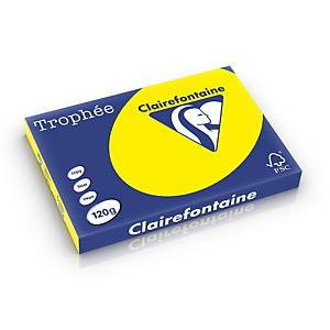 Clairefontaine Trophée 1382 coloured paper A3 120g sunny yellow-pack 250 sheets