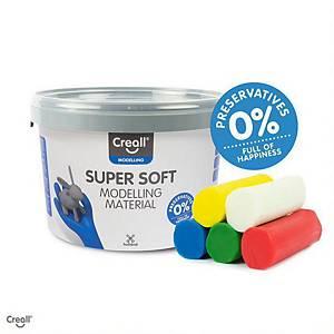 Creall Supersoft pâte à modeler 5 couleurs