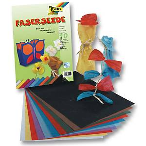 Folia papier de riz couleurs assorties - le paquet de 10