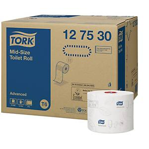 Pack de 27 rolos de papel higiénico Tork Advanced - Folha dupla - 100 m