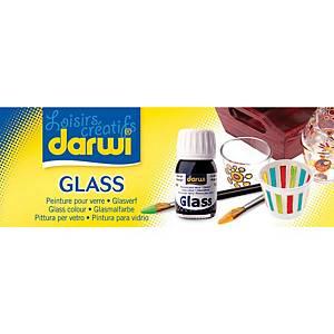 Peinture de verre Darwi couleurs assorties - set de 5