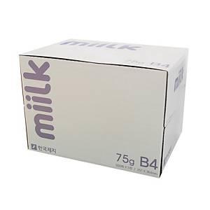 한국제지 밀크 복사용지 B4 75g(박스판매/1박스-5권)