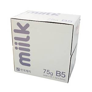 한국제지 밀크 복사용지 B5 75g(박스판매/1박스-5권)