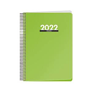 Agenda Dohe Metropolo - día página - 155x210 mm - verde