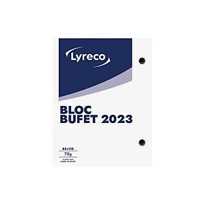Bloc buffet Lyreco - 85x110 mm - catalán