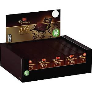 Choklad Marabou Premium 70%, förp. med 120st. à 10g