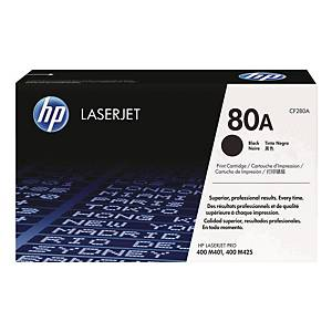 HP CF280A LaserJet Toner Cartridge Pro (80A) - Black